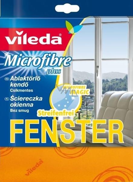 Vileda Microfibre Plus Fenster Mikrohadřík na okna 36 x 32 cm 1 kus