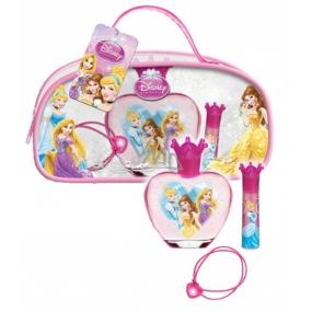 Disney Princess toaletní voda 50 ml + lesk na rty 5 g + náramek 1 kus, pro děti dárková sada