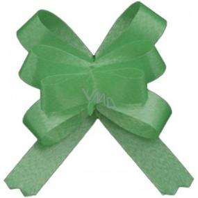 Kokarda stuha stahovací ozdobná zelená 50 cm