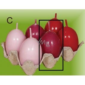 Lima Vajíčko s vůní svíčka tmavě růžová 40 x 60 mm 1 kus