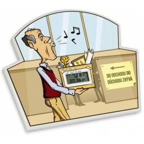Albi Odpočítávač Do důchodu, Nejdelší doba pro odpočet je 365 dní, 23h, 59 minut a 59 vteřin, 17x14x1,5 cm