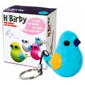 Albi Hledáček na klíče Modrý ptáček Zpěváček po zatleskání zapípá, 6,5 × 7,5 × 4,5 cm