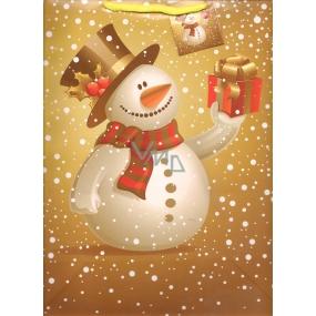 Nekupto Dárková papírová taška velká 32,5 x 26 x 13 cm Vánoční 1244 01 WBL