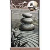 Room Decor Samolepky na zeď 3D tři plastické kameny 26 x 18,5 cm