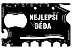 Albi Multinářadí do peněženky Nejlepší děda 8,5 cm × 5,3 cm × 0,2 cm