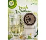Air Wick Fresh Infusions Jasmine Iced Tea - Vůně jasmínového ledového čaje elektrický osvěžovač vzduchu komplet 19 ml