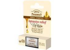 Green Pharmacy Intensive Relief 5 Oils - Intenzivní úleva výživný balzám na rty s pěti oleji 3,6 g