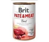Brit Paté & Meat Hovězí a krůta čisté masové paté kompletní krmivo pro psy 400 g