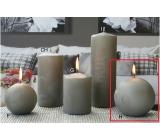 Lima Ledová svíčka šedá koule 100 mm 1 kus