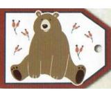 Nekupto Vánoční kartičky na dárky medvěd 5,5 x 7,5 cm 6 kusů