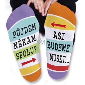 Nekupto Rodinné dárky s humorem Ponožky Půjdeme někam spolu, velikost 39-42