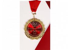 Albi Papírové přání do obálky Přání s medailí - 50 let