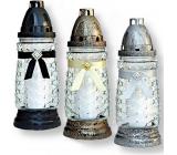Rolchem Lampa skleněná černá, zlatá, stříbrná 23 cm 32 hodin 65 g Z-11 1 kus