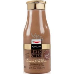 Aquolina Bath Shower Cream Krémový sprchový gel s vůní čokolády a rumu 250 ml