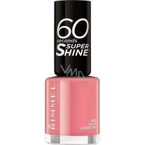 Rimmel London 60 Seconds Super Shine Nail Polish lak na nehty 405 Rose Libertine 8 ml