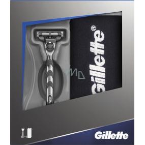 Gillette Mach 3 holicí strojek + bavlněný ručník, kosmetická sada