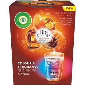 Air Wick Multicolor Pohodlí u krbu vonná svíčka 140 g