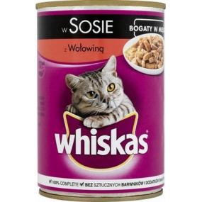 Whiskas Adult Hovězí maso ve šťávě konzerva 400 g