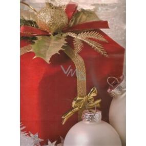 Nekupto Dárková papírová taška velká 701 30 WBL Červený balíček 32,5 x 26 x 13 cm