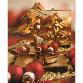 Nekupto Dárková papírová taška malá 719 30 WBS Dřevěný stromeček 14 x 11 x 6,5 cm
