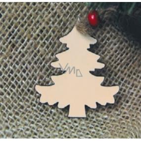 Předloha ze dřeva stromek 6 cm 4 kusy