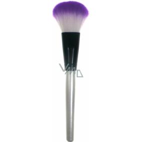 Kosmetický štětec na pudr bílý s bílo-fialovou špičkou 19 cm 30350
