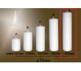 Lima Gastro hladká svíčka bílá válec 70 x 300 mm 1 kus