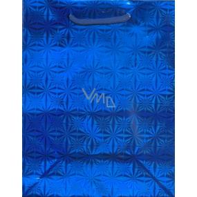 Nekupto Dárková papírová taška malá 14 x 11 x 6,5 cm modrá hologramová 050 40 THS