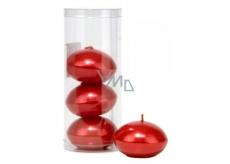 Svíčka plovoucí metal červená v tubusu 50 x 120 mm 4 kusy