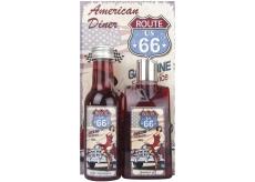 Bohemia Gifts & Cosmetics American Diner Hroznový olej a extrak vinné révy Sprchový gel 200 ml + Kouoelová lázeň 200 ml + Obrázek Dělej to, co tě udělá šťastným.. 13 x 24 cm, Kosmetická sada