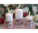 Lima Růže svíčka bílá válec 50 x 100 mm 1 kus