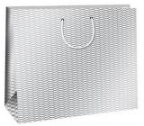 Ditipo Dárková papírová taška Trendy colours bílo-šedá 38,3 x 10 x 29,2 cm QAA