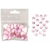 Srdíčka samolepicí růžová 2 cm 20 kusů