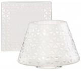 Yankee Candle Belmont Sandblasted on Glass stínítko malé 8 x 9 cm + talíř malý 9 x 9 cm na svíčku malou Classic