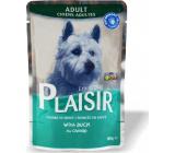 Plaisir Dog kachní kompletní krmivo pro dospělé psy kapsička 100 g