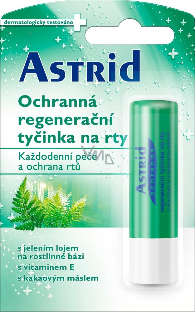 Astrid Ochranná regenerační tyčinka na rty s jelením lojem na rostlinné bázi 4 g