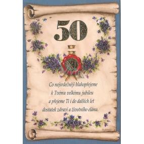 Nekupto Přání k narozeninám 2003 50 G 50 srdečné blahopřání