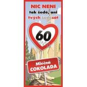 Bohemia Gifts & Cosmetics Mléčná čokoláda Vše nejlepší 60, dárková 100 g