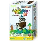 Jumping Clay Savana - Zebra samoschnoucí modelovací hmota 51 g + papírová maketa + tvořítko 5+