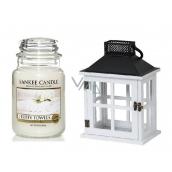Yankee Candle Fluffy Towels - Nadýchané osušky vonná svíčka Classic velká sklo 623 g + Beach House lucerna, dárková sada