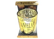Albi Třpytivý svícen ze skla na čajovou svíčku DANIELA, 7 cm