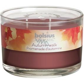 Bolsius Aromatic Autumn Walk - Podzimní čas 3 knoty vonná svíčka ve skle 70 x 106 mm 685 g, doba hoření 83 hodin