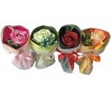 NeoCos Mýdlová růže kytice v papíru zelená 1 kus