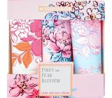 Heathcote & Ivory Pinks & Pear Blossom krém na ruce a nehty 3 x 30 ml, kosmetická sada