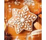 Nekupto Vánoční kartičky na dárky Hvězda perníček 6,5 x 6,5 cm 6 kusů