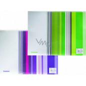 Donau Obálka se zipem A4 proužky fialové 25 x 33 cm