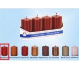 Lima Svíčka hladká metal červená válec 40 x 70 mm 4 kusy