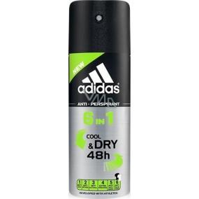 Adidas Cool & Dry 48h 6v1 antiperspirant deodorant sprej pro muže 150 ml