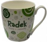 Nekupto Twister hrnek se jménem Radek zelený 0,4 litru 065 1 kus