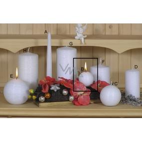 Lima Alfa Mrazivý efekt svíčka bílá koule 60 mm 1 kus